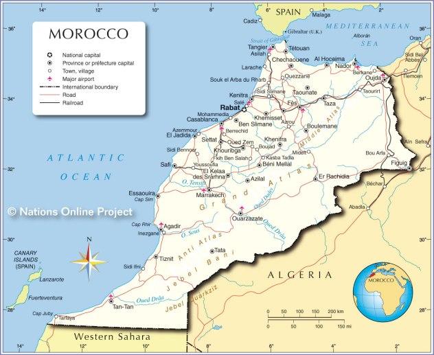 morocco-political-map