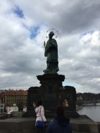 St Charles Bridge Statue